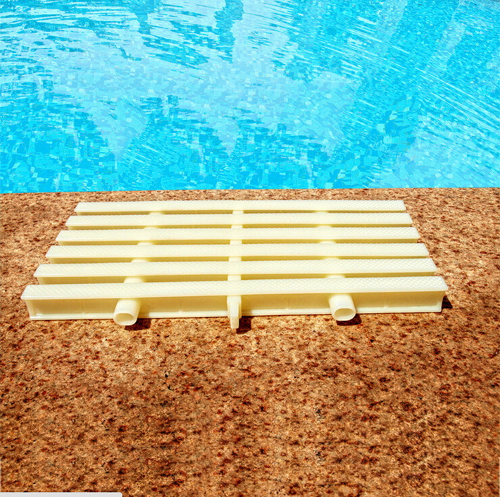 China Swimming Pool Gutter Drain Grating Pvc Pool Grating
