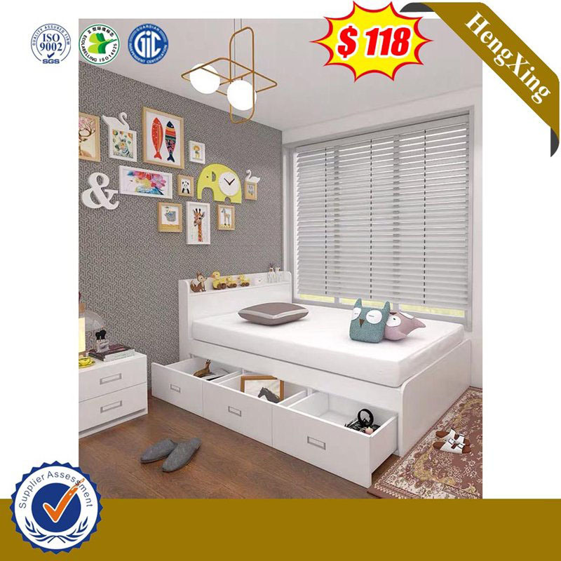 China New Product Modern Single Wooden Kids Loft Beds Bedroom Furniture Set With Drawer Cabinet China Home Furniture Bedroom Furniture