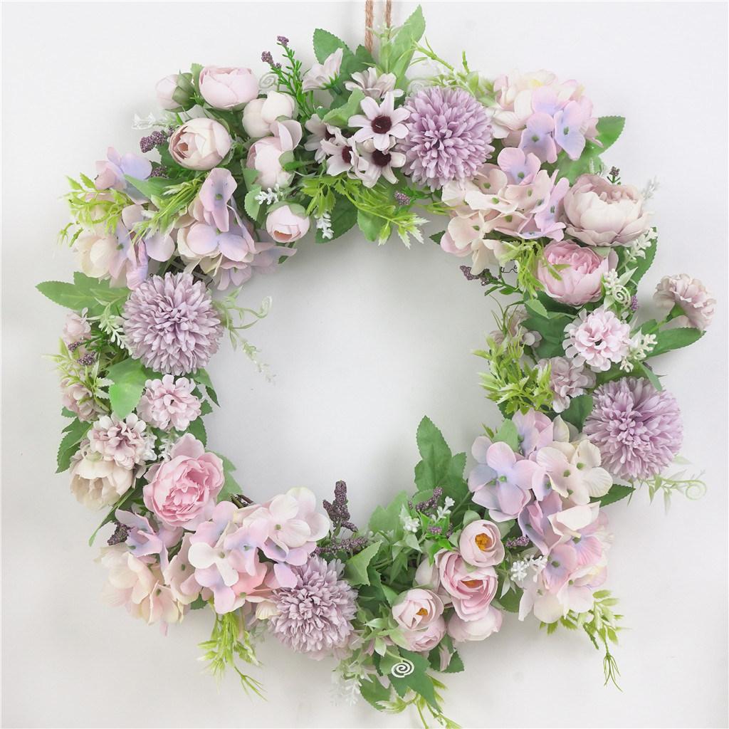 China Front Door Artificial Silk Flowers Decorative Wreaths China Artificial Flowers And Silk Flowers Price