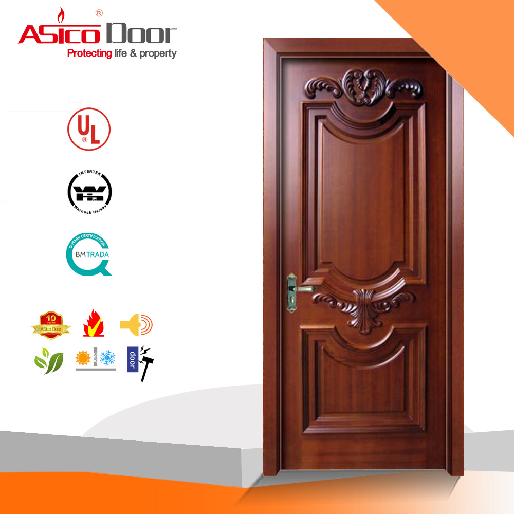 China Solid Exterior Woodentimber Door Entrance Door With