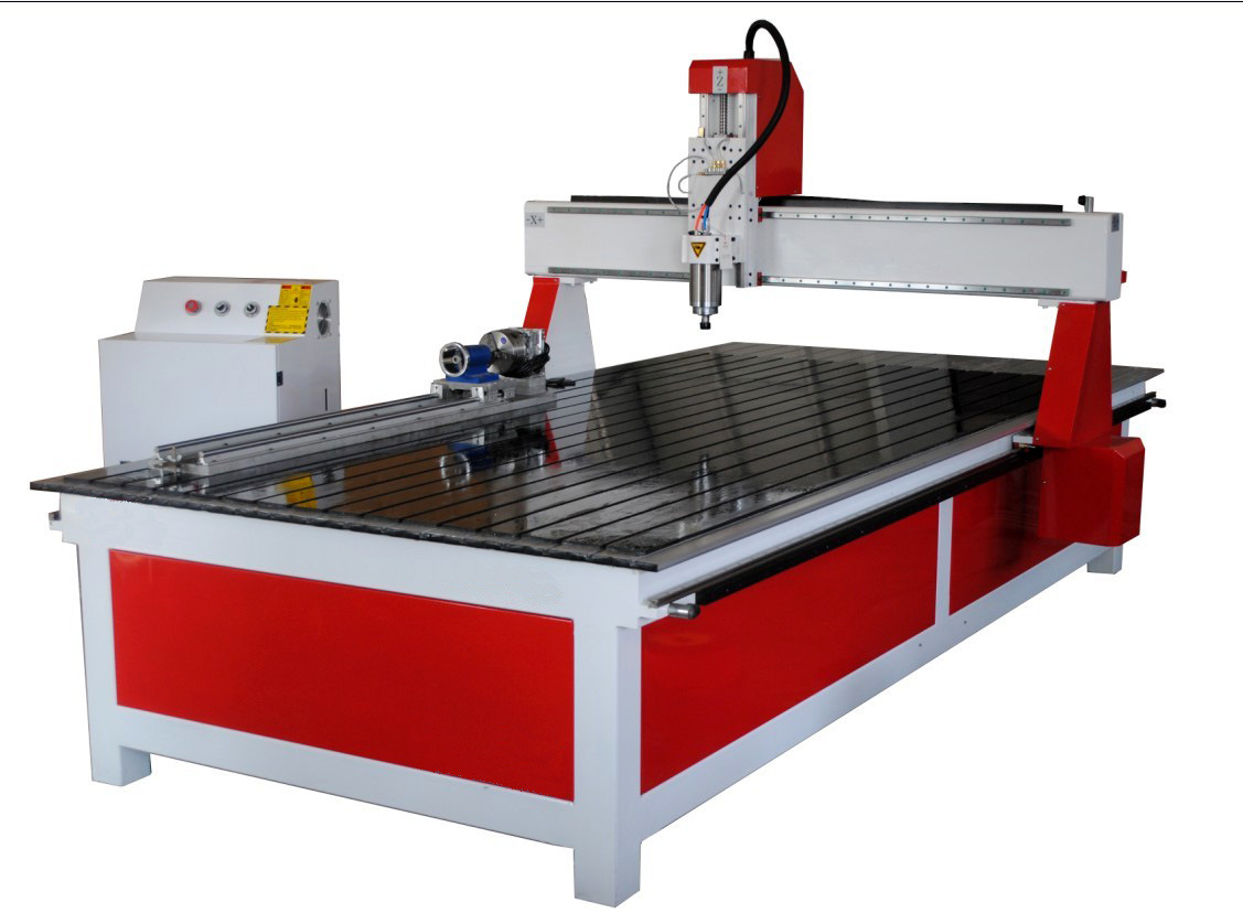 Wood Door Table Legs and Furniture 4 Axis CNC Router R1325t