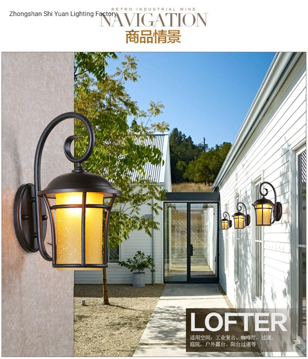 China Hot Sale Suppliers Nice Lighting Antique Outdoor Glass Vintage Wall Lamp Photos Pictures Made In China Com