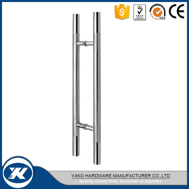 China Stainless Steel H Type Double Side Glass Door Pull Handle