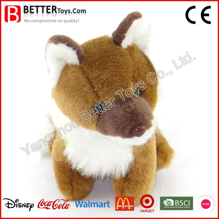 China Stuffed Animal Soft Toy Plush Sitting Fox for Kids/Children ...