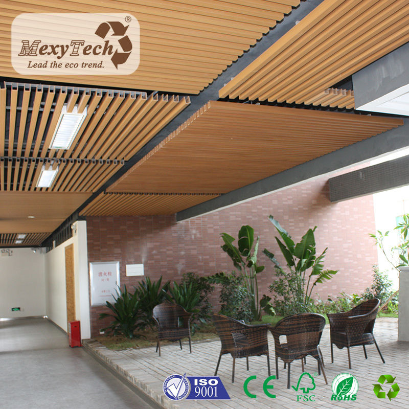 China Several Colors Option Indoor Fireproof Composite Wood Panels Designs Pvc Ceiling