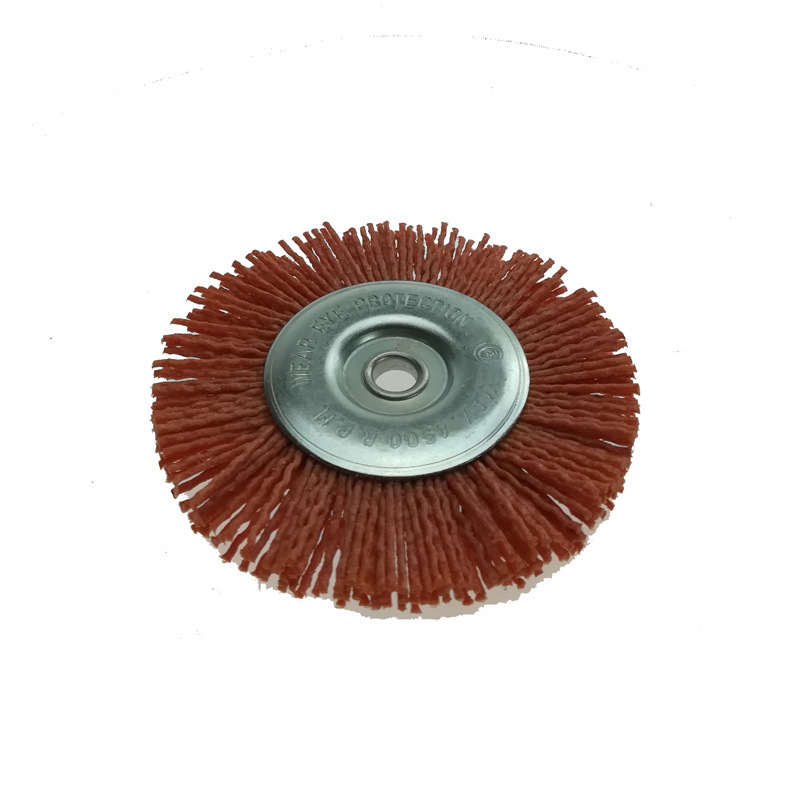 4.5 Inch Fine Nylon Abrasive Radial Wire Brush