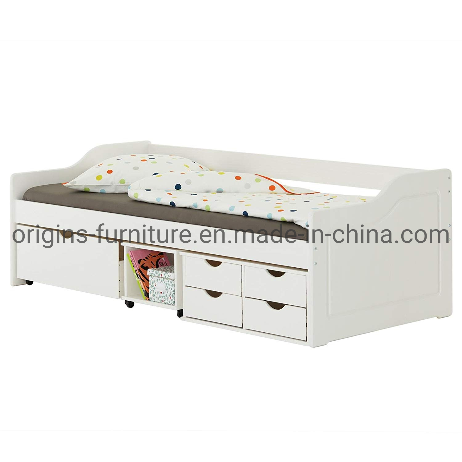 - China Single Day Bed With Pullout Drawers And Trundle Underbed
