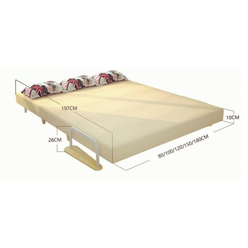 China Folding Sofa Bed Design Space Saving Wooden Frame Sleeper 197