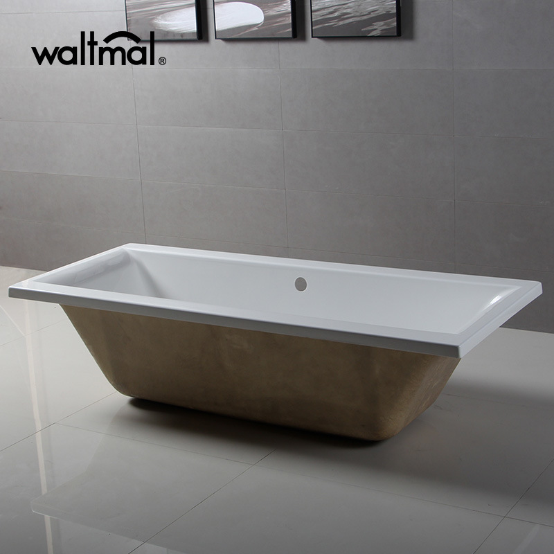 China UK Market CE Double Ended Slipper Drop-in Bathtub - China Drop ...