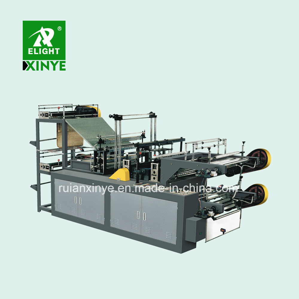 Continuous Roll Garbage T-Shirt Plastic Bags Making Machine pictures & photos