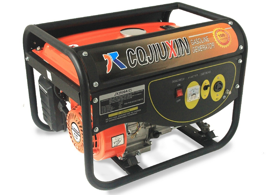 Jx8000L 6kw High Quality Gasoline Generator with a. C Single Phase, 220V