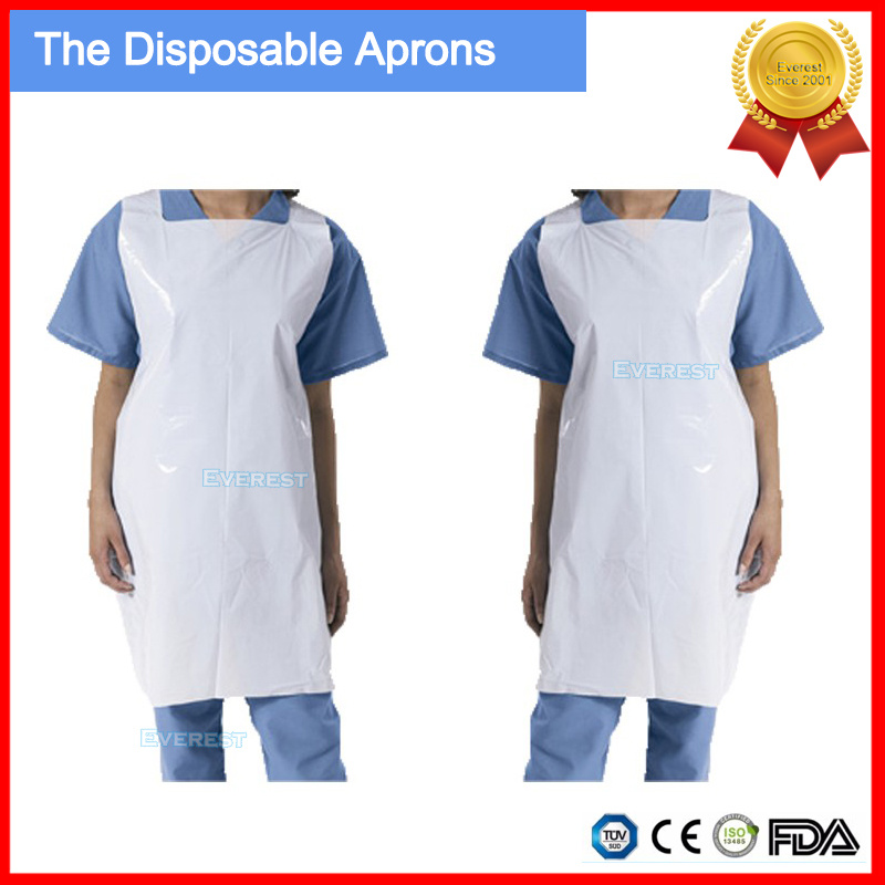 100pcs Home Disposable Aprons Sleeveless Apron Barbecue T