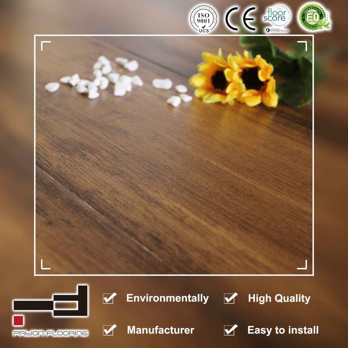 China 8mm 12mm Crystal Finish Oak Style Water Proof Laminated Flooring For Family Laminte