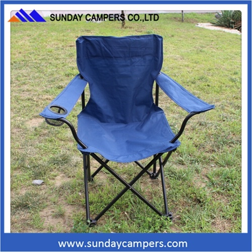 China Lightweight Easy Folding Canvas Camping Deck Chair For Open