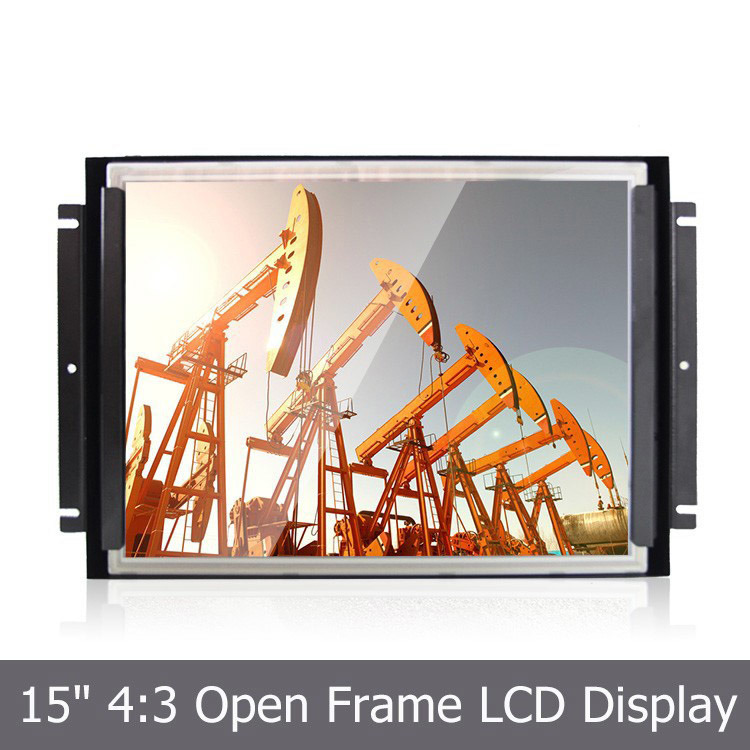 15′′ TFT LCD Metal Open Frame with 4-Wire Resistive Touchscreen
