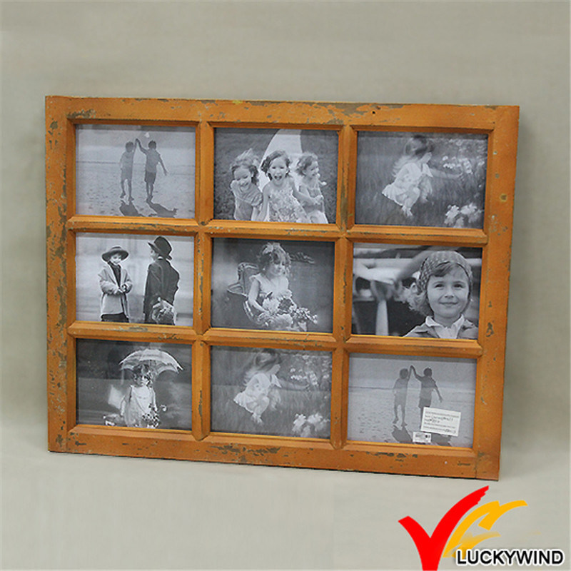 China Wholesale Distressed Vintage 9-Opening Window Wooden Collage ...
