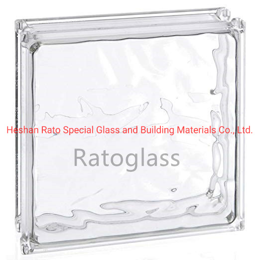 Colored Tinted Crystal Glass Block Wall, Decorative Glass Blocks