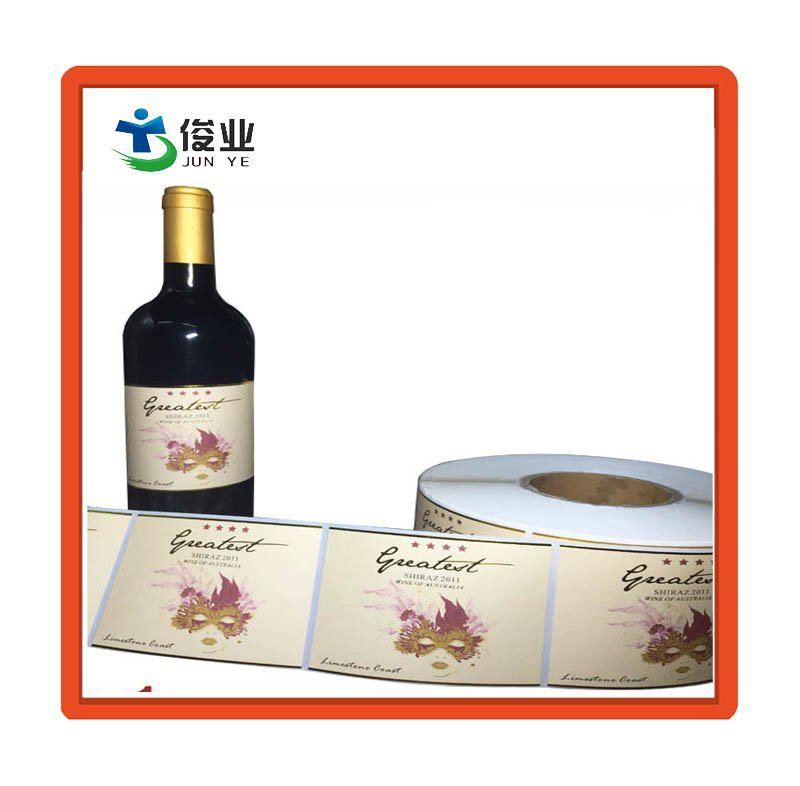Custom Matte Self Adhesive Sticker for Wine Bottle Packaging pictures & photos
