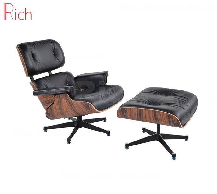 Eames Lounge Stoel Replica.Hot Item Modern Designer Furniture Replica Leather Walnut Charles Eames Lounge Chair