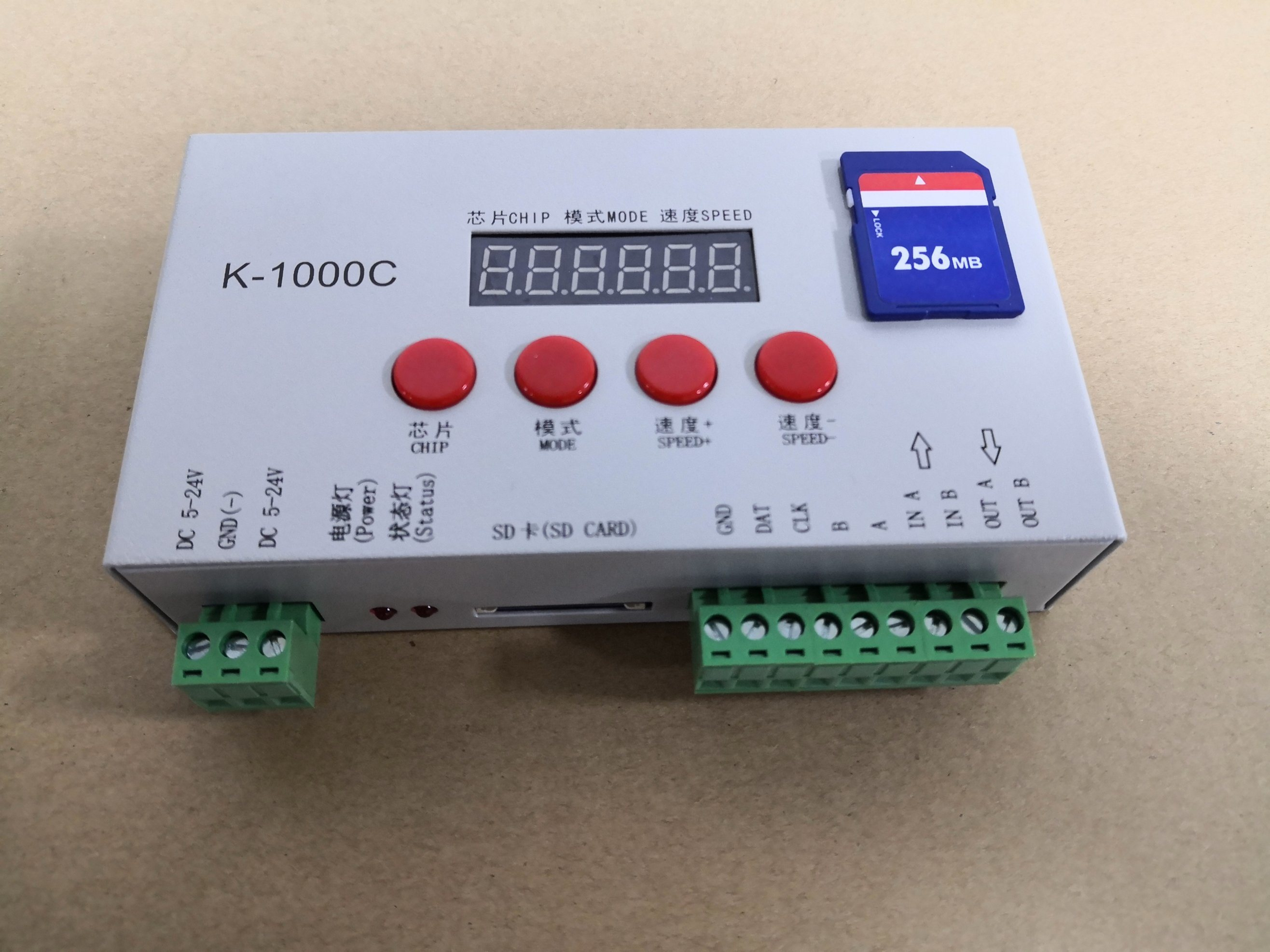 China Full Color K1000 Programmable Rgb Sd Card Pixel Led Controller For Sk6812 Ws2812b Ucs1903 Dmx Led Pixel Light China Rgb Strip Controller Programmable Controller