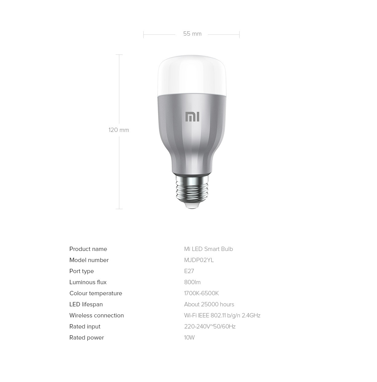 China Xiaomi Yeelight Smart WiFi Bulb RGB E27 9W 220V LED