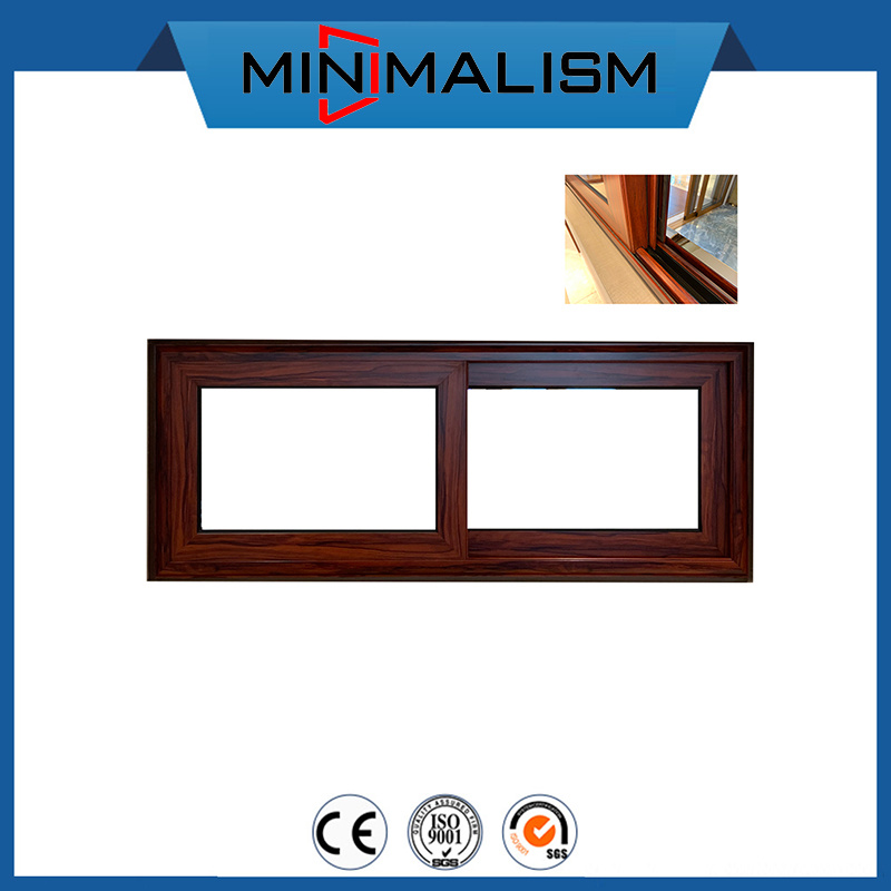 China Wooden Color Aluminium Kitchen Sliding Window With Small Size Photos Pictures Made In China Com
