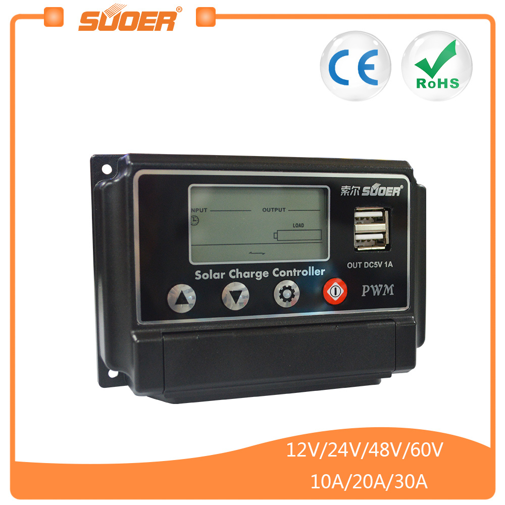 China Suoer High Quality 60v 10a Solar Charge Controller St W6010 Power