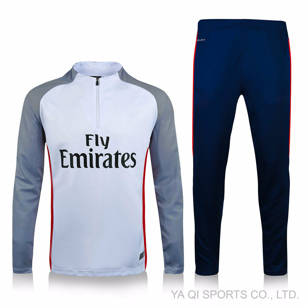 [Hot Item] in Stock Lot Thailand Wholesale Football Tracksuits Compression  Shirt with Long Pants Hot Selling Club Soccer Tracksuit