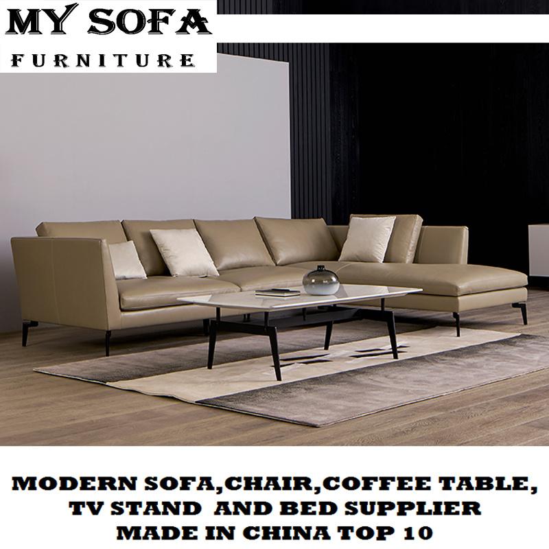 China Italian New Design Leather Sofas