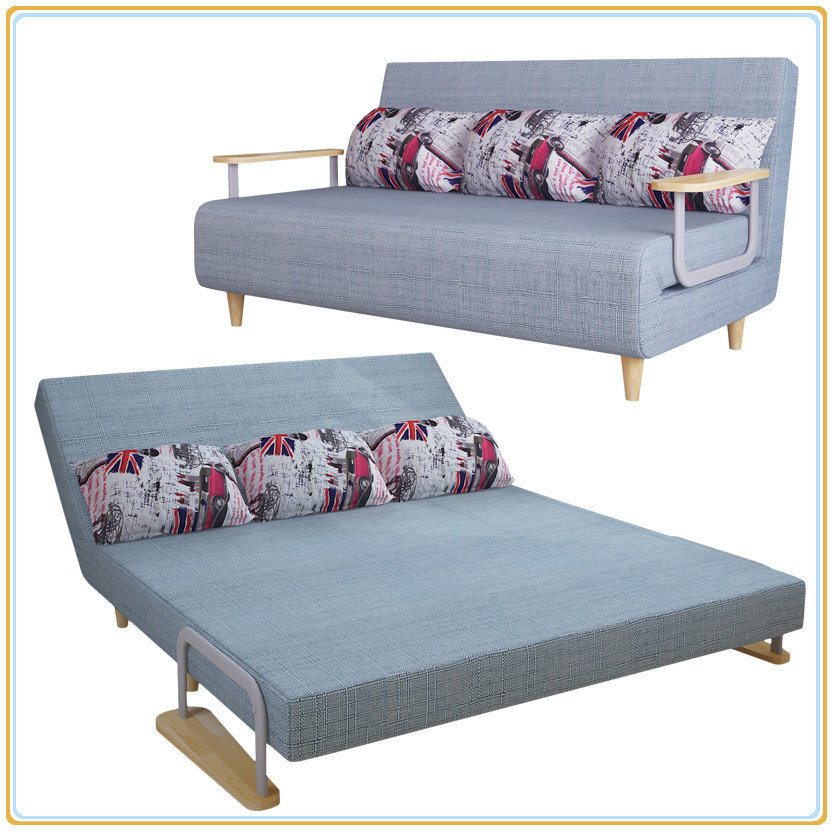 [Hot Item] Intelligent Design Classic Sofa Bed with 2 Rubber Arms 190*150cm