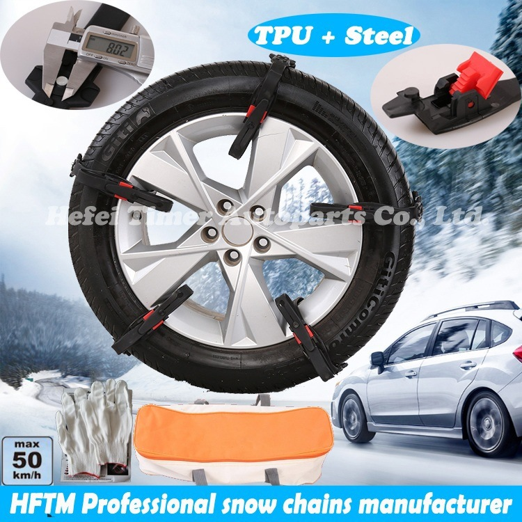 Ce Certificated Tire Wheel Chains Manufacturer TPU Snow Chains