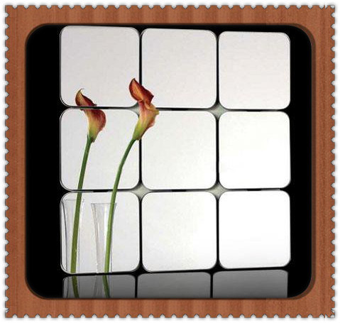 China Modern Designs Bathroom Mirror Tile