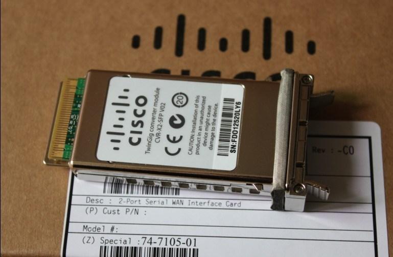 LOT OF 4 Genuine Cisco CVR-X2-SFP V02 TwinGig X2 to SFP Converter Network Module