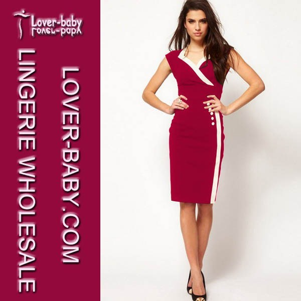 [Hot Item] Woman High-End Fashion Bodycon Party Evening Career Plus Size  Pencil Dress (L36028-2)