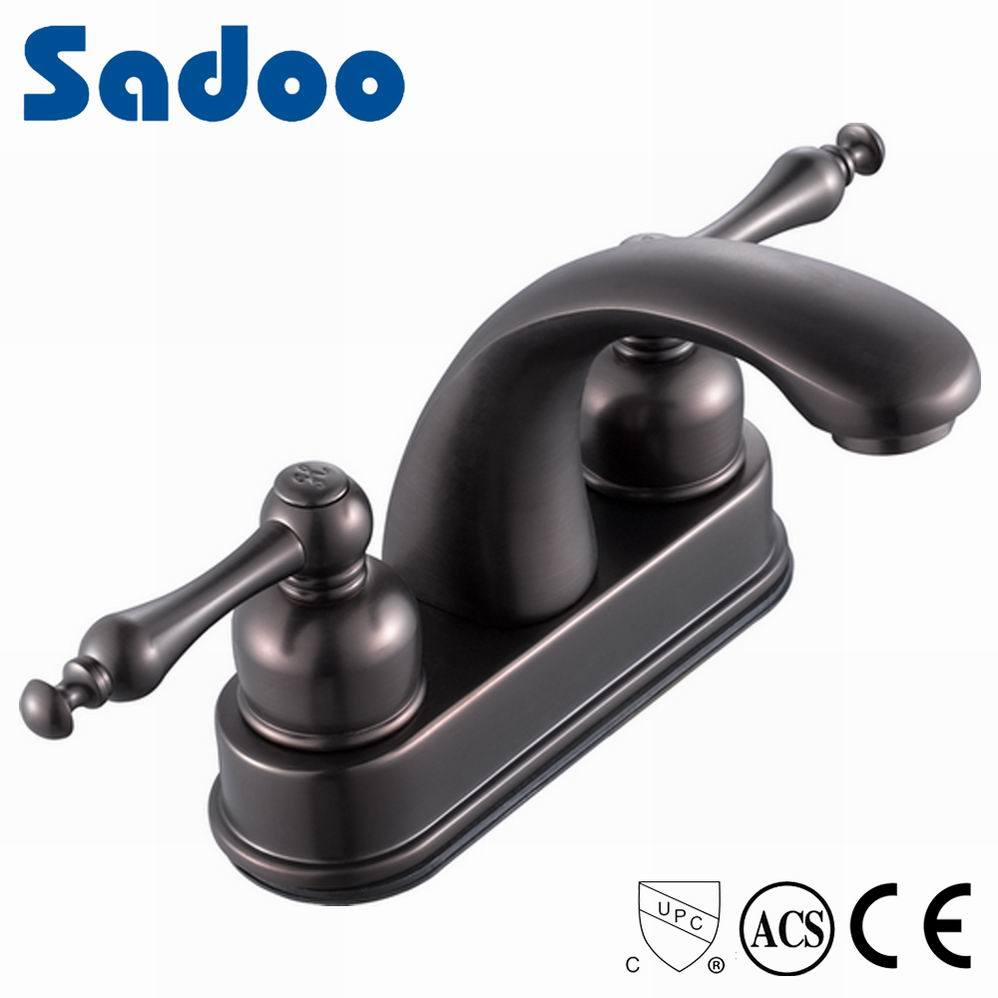 China Oil Rubbed Bronze Basin Mixer Faucet with 4 Inch Wide Spread ...