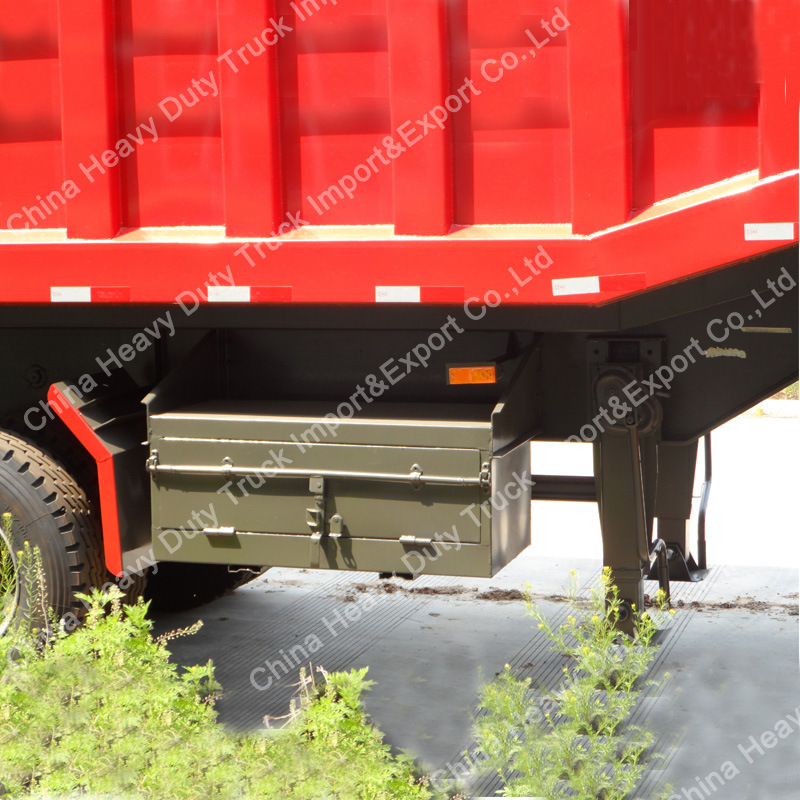 Factory Sale 90mm King Pin 45m3 Cargo Box Dump Semi-Trailer pictures & photos