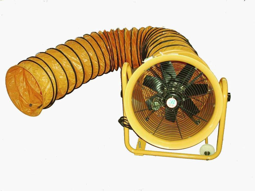 China Portable Hand-Push Ventilation Fan and Flexible Duct ...