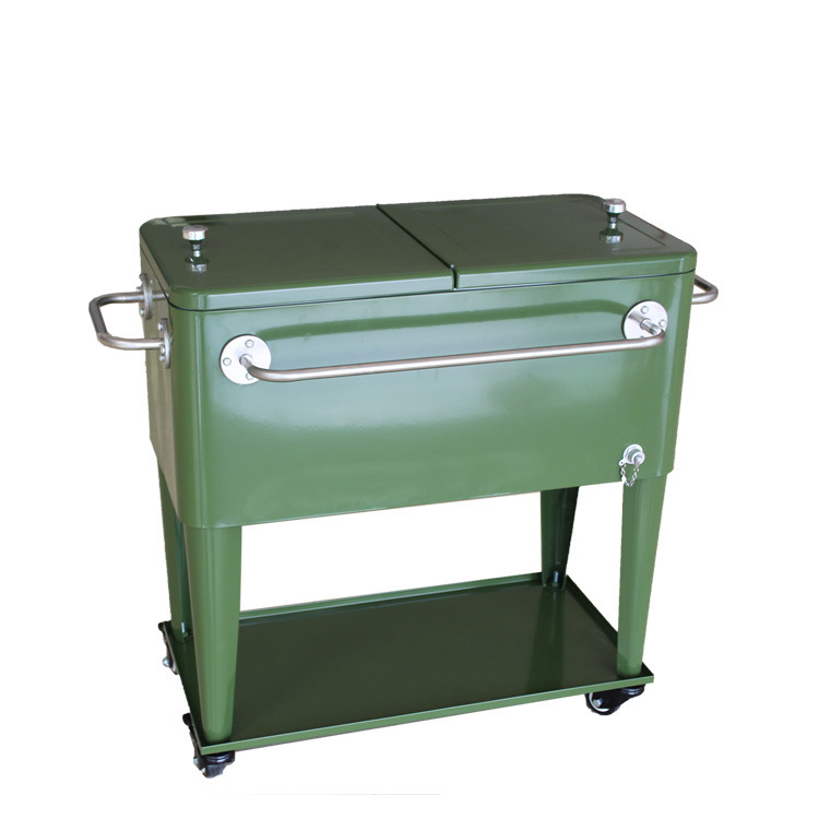 Stainless Steel Patio Cooler Cart Ice