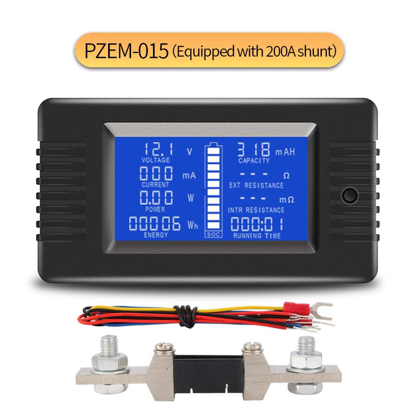 Fielect 1Pcs Mini Digital Voltmeter Ammeter DC Current Meter Shunt Resistor Resistance Mini Digital Voltmeter Ammeter 120 x 25mm FL-2 20A