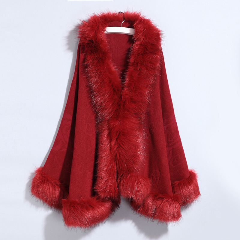 Large-Sized Knitted Fox Fur Cape pictures & photos
