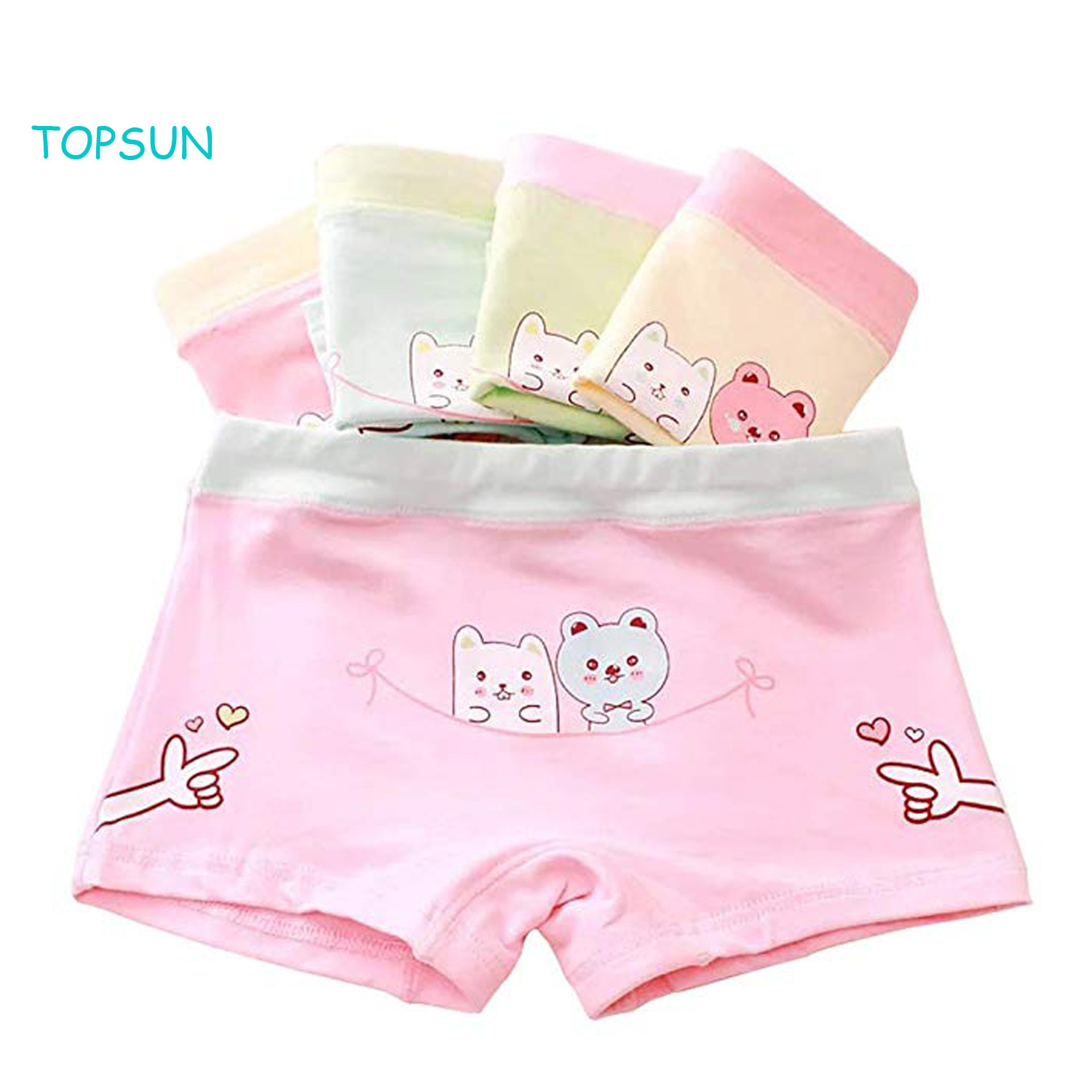 Girls Cotton Underwear Soft Boy Shorts Baby Boxer Briefs Panties (Pack of 5) pictures & photos