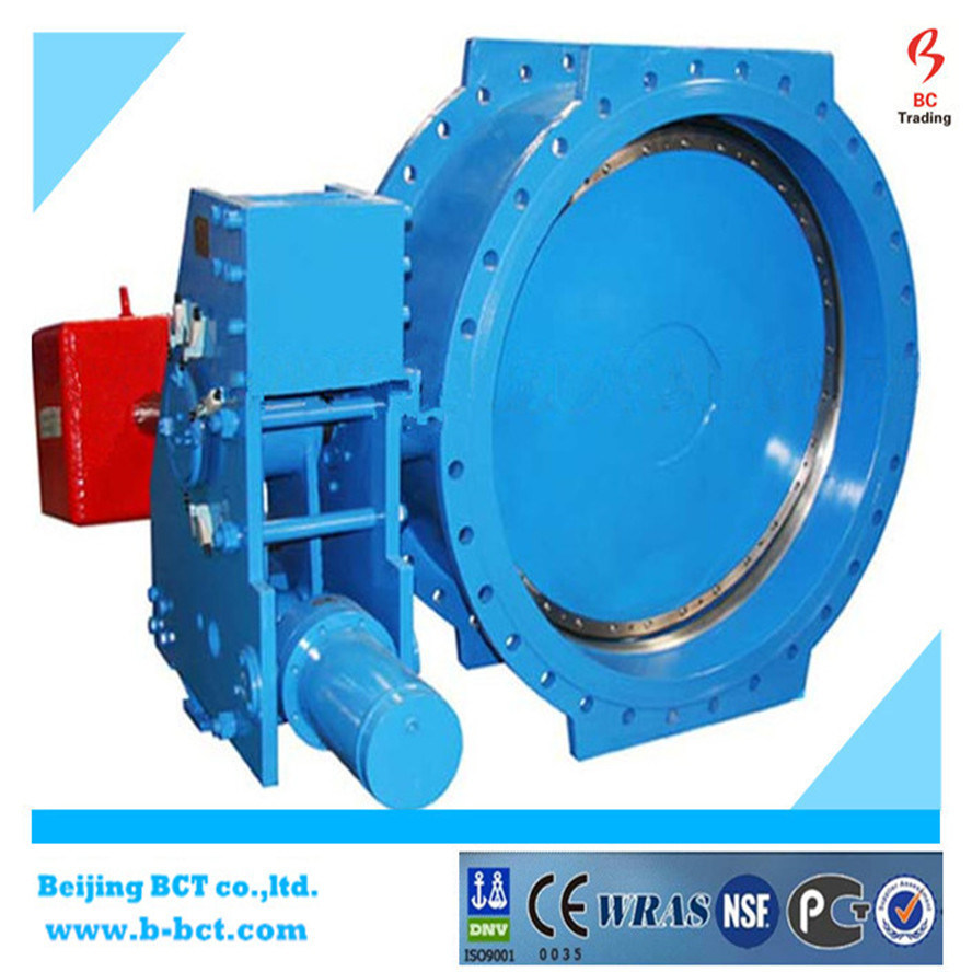 China Manufacturer Double Flanged Double Eccentric Rubber Seated Butterfly Valve pictures & photos