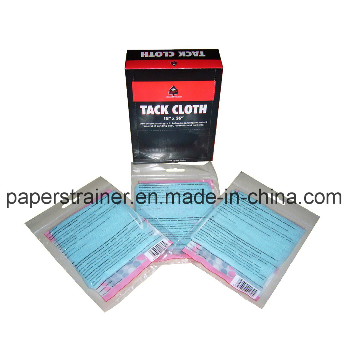 "High Quality Blue Tack Cloth 18""X36"""