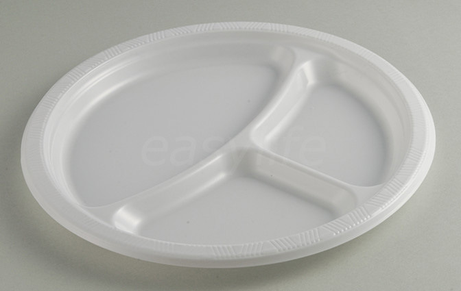 Easylife P102625-3 10′′ (26cm) Round Plate PS White