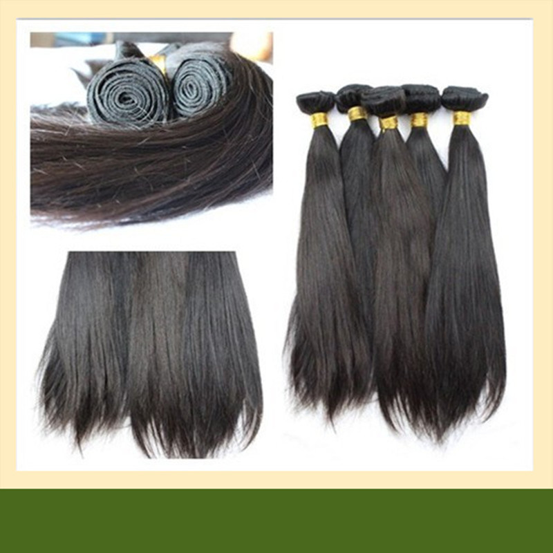China Silk Straight Virgin Indian Human Hair Extensions 100 Indian