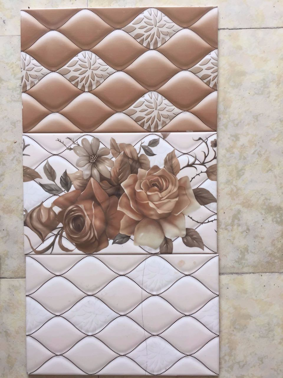 China 3d Inkjet Water Proof Flower Mosaic Rustic Bathroom Ceramic Wall Tile China Ceramic Tile Wall Tile