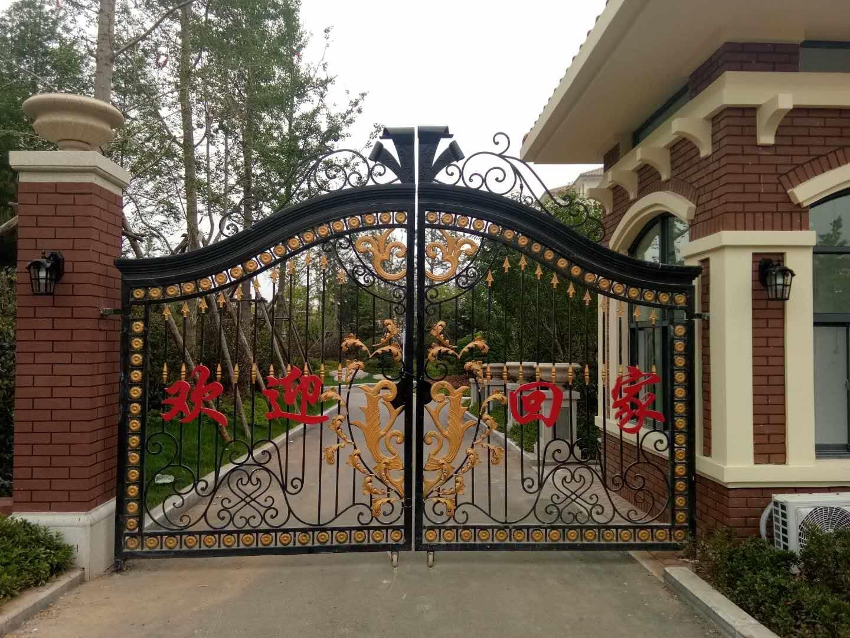 China Classical Ornamental Wrought Iron/Aluminium Garden Gate ...