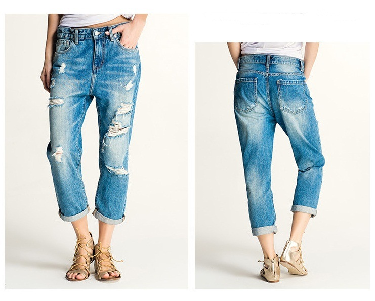 New Spring Baggy Ripped Women Jeans