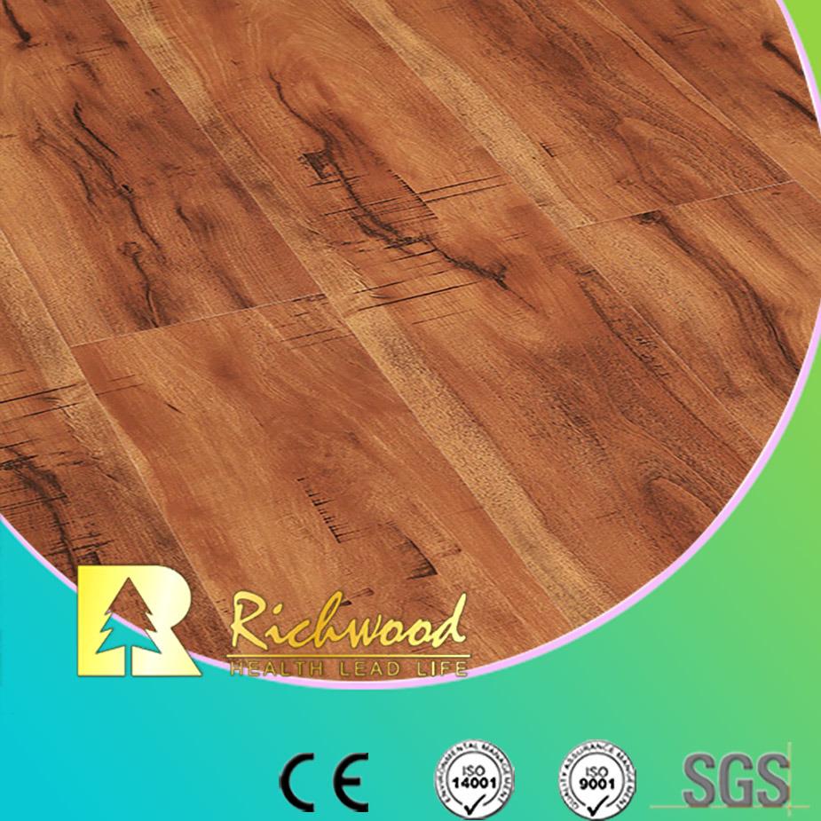 China 8 3mm Hdf Ac3 Embossed Oak Waxed Edge Laminate Flooring Laminated