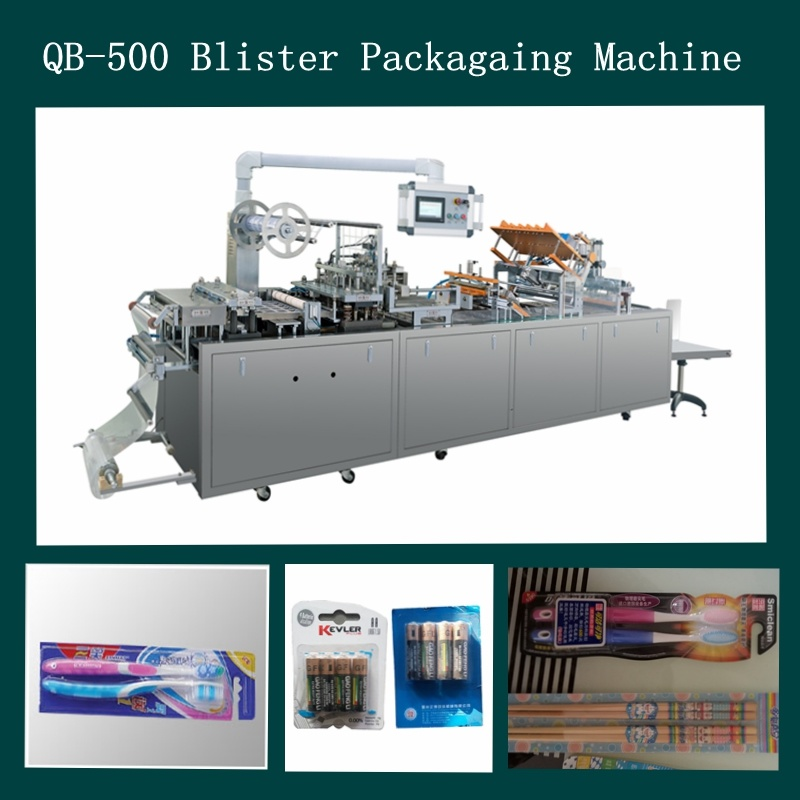 Fully Autoamtic PVC Blister Papercard Packaging Machine for Battery/Toothbrush/Hardware pictures & photos
